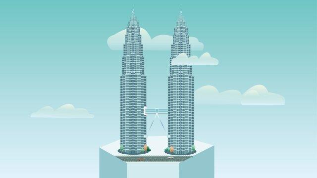 xây dựng cột mốc malaysia tháp đôi Hình minh họa Hình minh họa