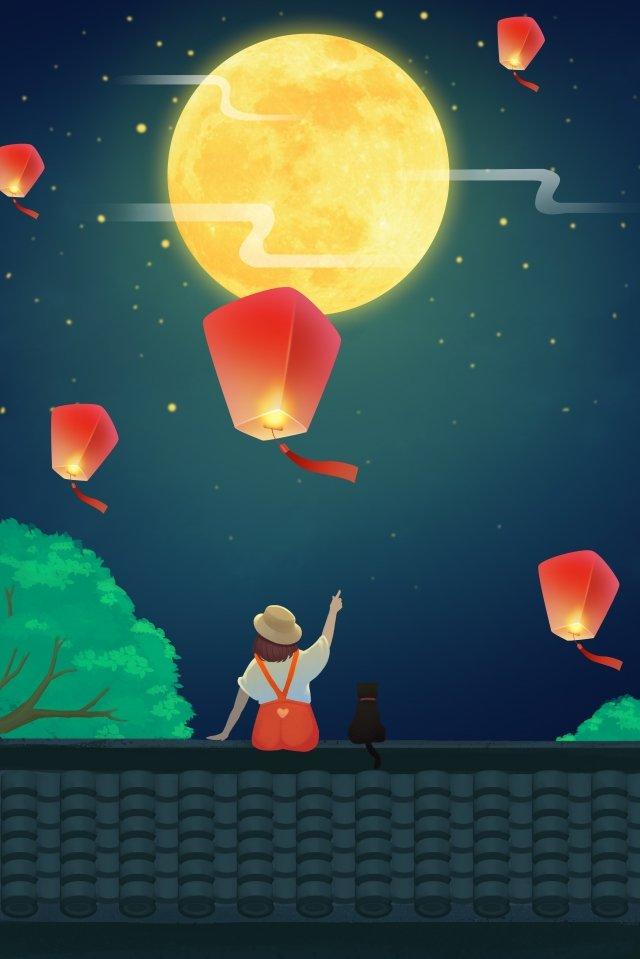فانوس مهرجان، تصوير، الخلفية ، الليل، kongming، lantern مواد الصور المدرجة الصور المدرجة