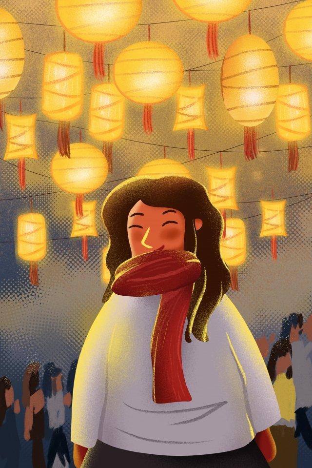 illustrazione festival delle lanterne illustrazione disegnata a mano festival delle lanterne riunione delle lanterne Immagine dell'illustrazione immagine dell'illustrazione