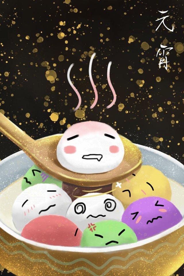 lantern festival tangyuan yuan zhen the first month llustration image illustration image