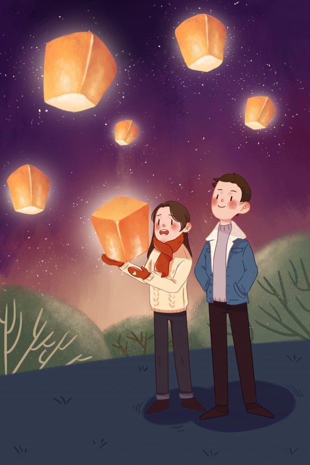lantern festival the first month shangyuan festival yuan zhen llustration image