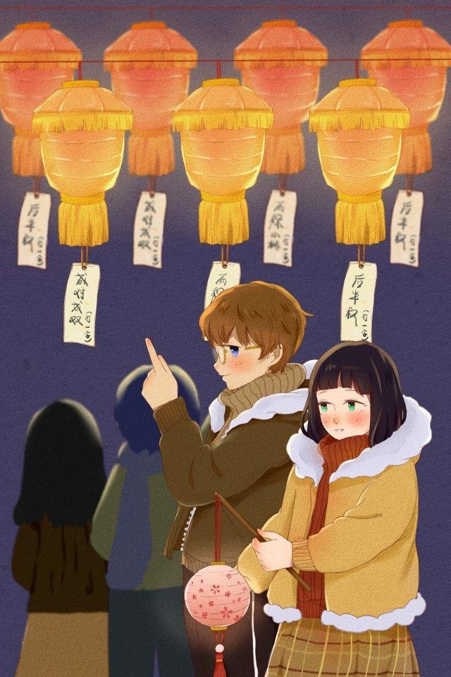 lantern festival yuan zhen shangyuan festival the first month llustration image