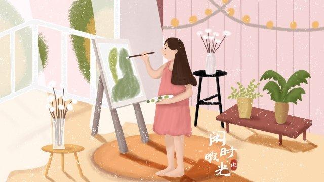 leisure leisure illustration girl llustration image