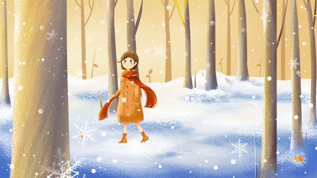 light snow heavy snow beginning of winter snow llustration image