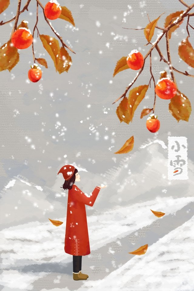 light snow winter snow girl llustration image illustration image