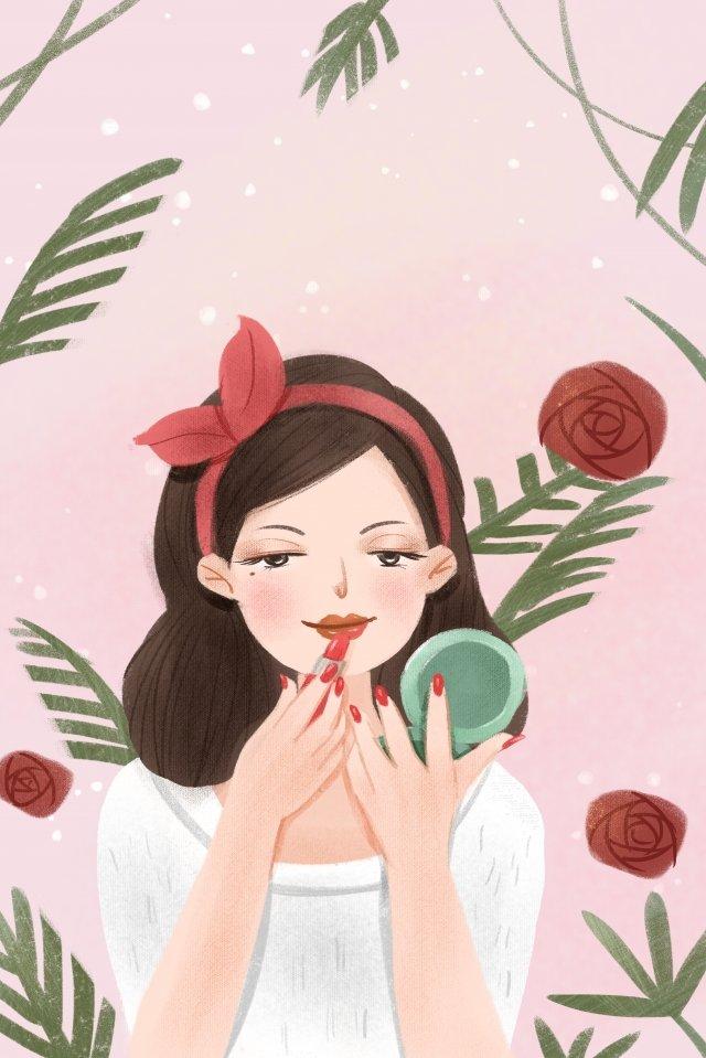 lipstick character makeups make up llustration image illustration image