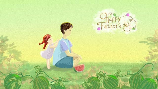 little girl fathers day father back llustration image