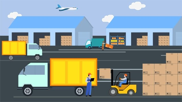 logistics transport express delivery truck llustration image illustration image