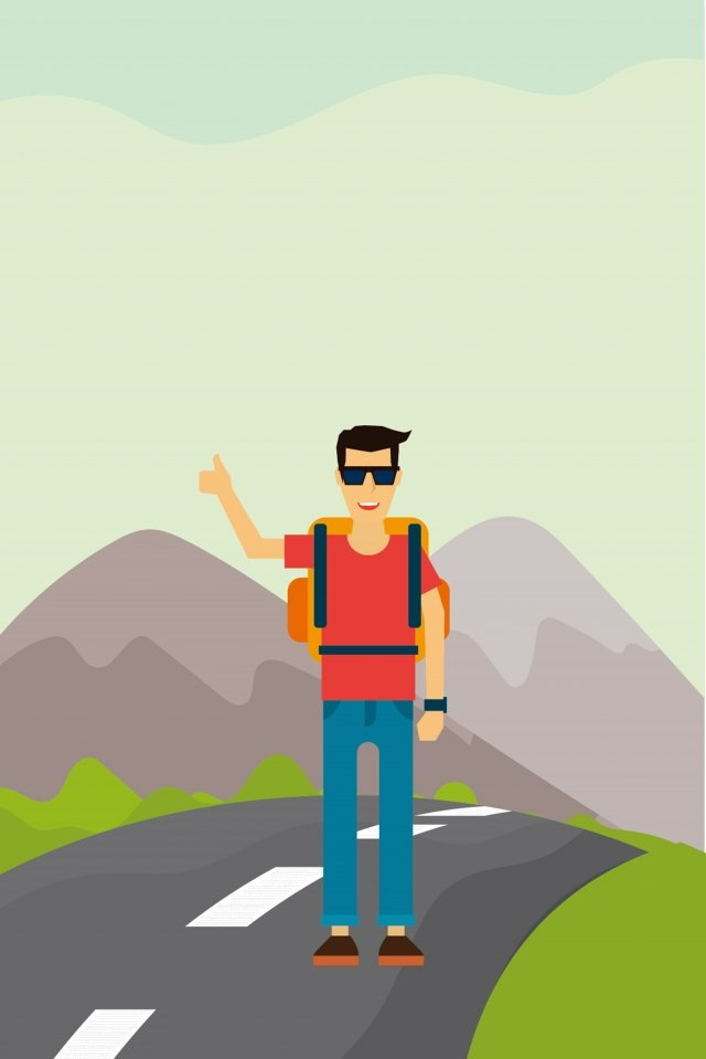 長期休暇旅行アウトドアアドベンチャー イラスト素材