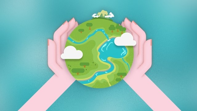 tình yêu xung quanh trái đất xanh Hình minh họa Hình minh họa