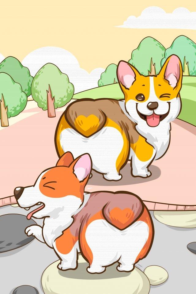 lindo cão keji pet Imagens de ilustração