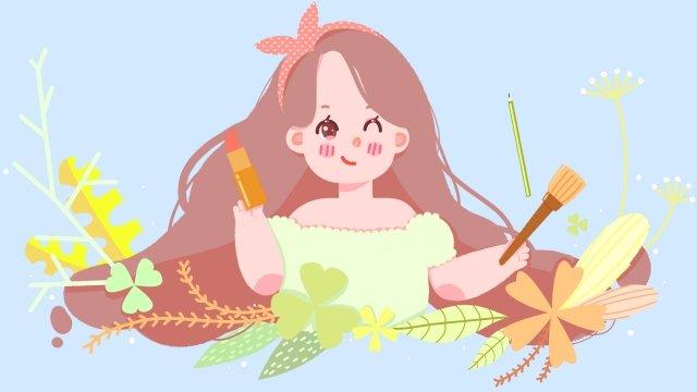 makeups make up flower plant llustration image illustration image