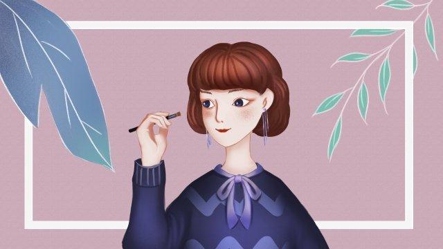 makeups make up girl purple llustration image illustration image