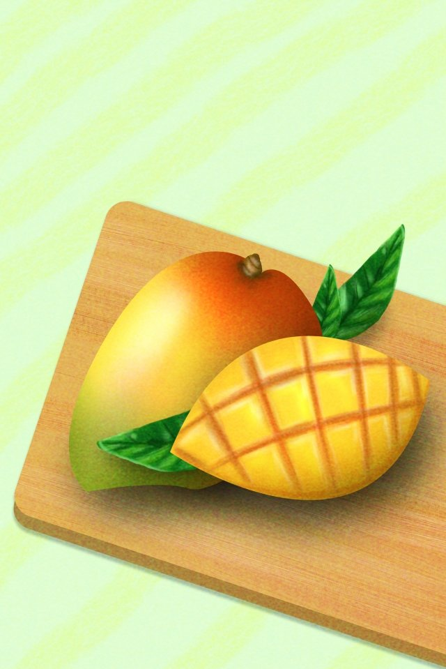 芒果水果食品插圖 插畫圖片