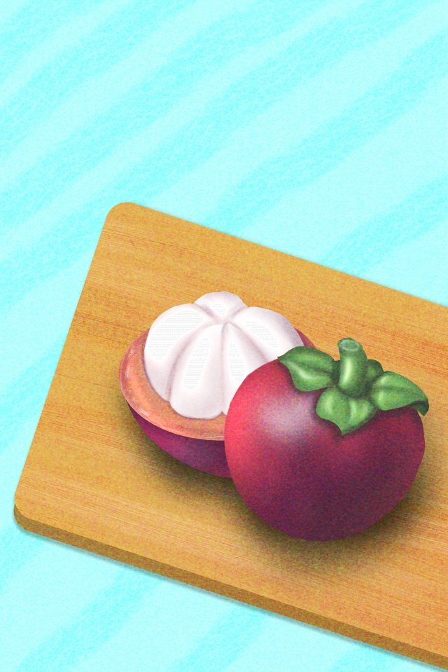 山竹果果王的水果之王 插畫圖片