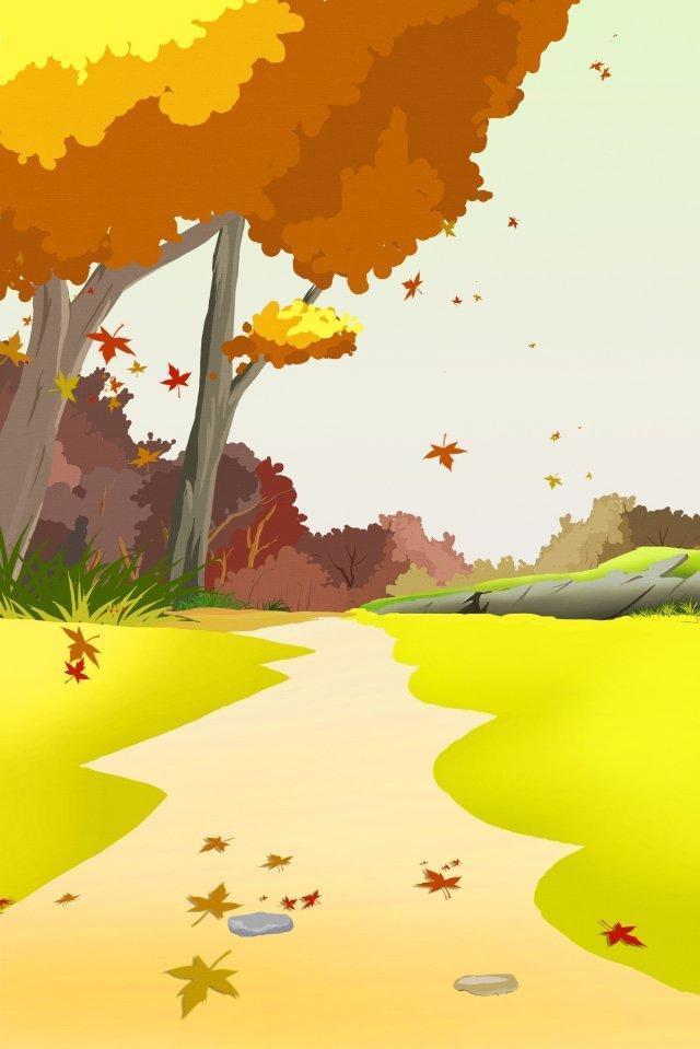 maple leaf fallen leaves maple forest fall, Beautiful, Illustration, Maple Leaf illustration image
