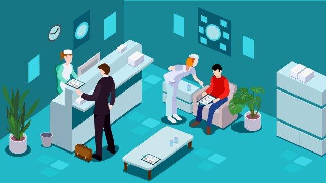 centro de exame médico médico um exame Material de ilustração
