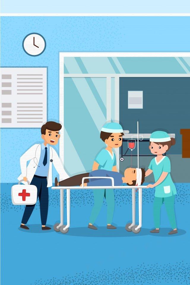 medical health illustration hospital, Doctors, Medicine, Patient illustration image