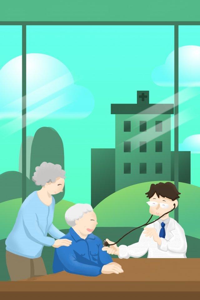 hospital de exame médico de saúde médico Material de ilustração