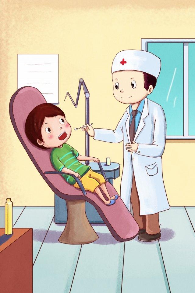 spojrzenie medyczne na zęby lekarzy dentystów obraz llustration