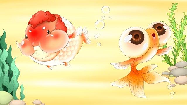 meng yếu tố vàng vàng cá vàng Hình minh họa Hình minh họa