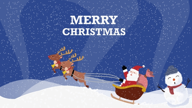 メリークリスマスクリスマスサンタクロース雪だるま イラスト素材