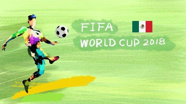 メキシコサッカーワールドカップ2018 イラスト素材