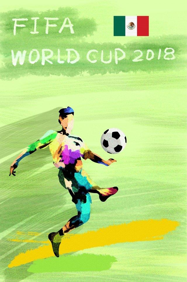 メキシコサッカーワールドカップ2018 イラスト素材 イラスト画像