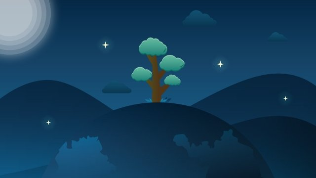 micro gradient the earth day night treeStar  Micro  Gradient PNG Và PSD illustration image