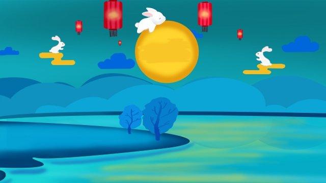 Tết trung thu thỏ ngọc và trăng Tết trung thu NgọcTết  Trung  Thu PNG Và PSD illustration image