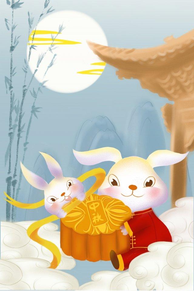 meados de outono mid autumn festival reunion festival festival do bolo da lua Material de ilustração
