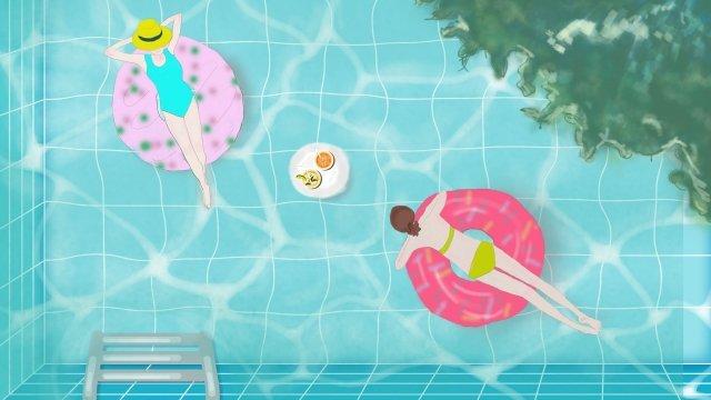 piscina de verão é legal Imagem de llustration
