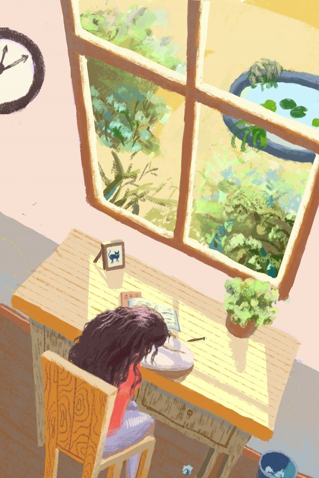 buổi chiều cô gái tuổi teen ấm áp Hình minh họa