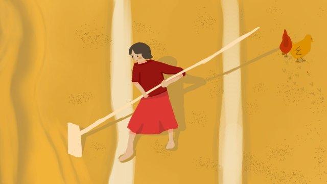小米米農村生活 插畫素材 插畫圖片