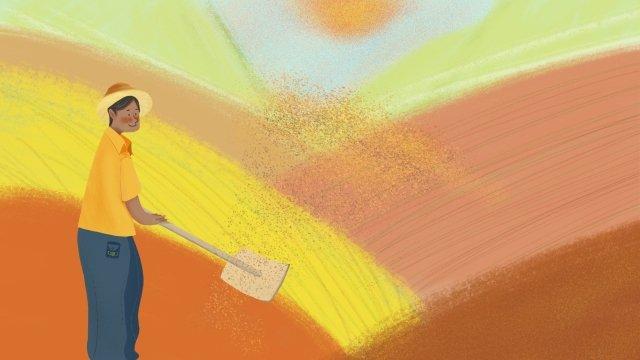 小米小米農村農村 插畫素材 插畫圖片