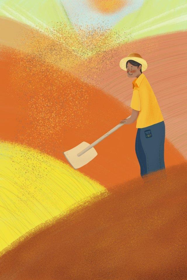 小米小米農村農村 插畫圖片