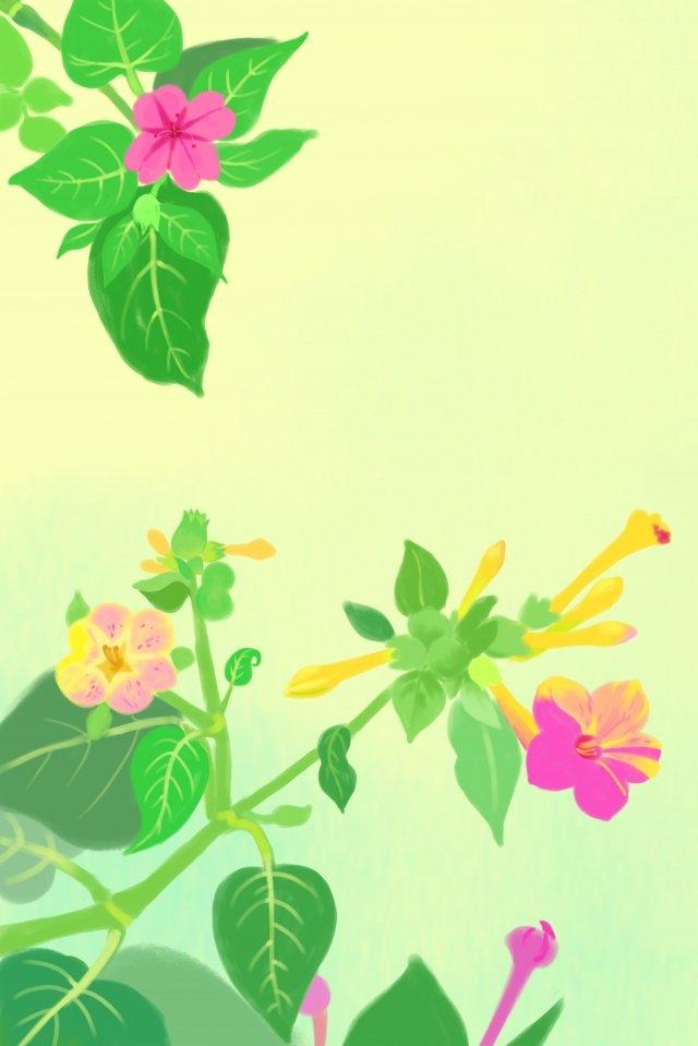 광산 꽃 여름 꽃 꽃 삽화 소재 삽화 이미지