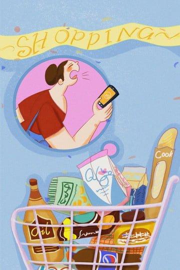 Мобильный телефон Хуэй Хуэй Иллюстрация изображение llustration