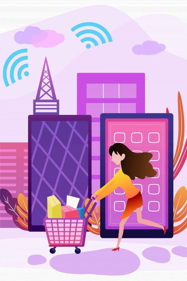 мобильный телефон интернет доступ к магазинам иллюстрация изображение llustration