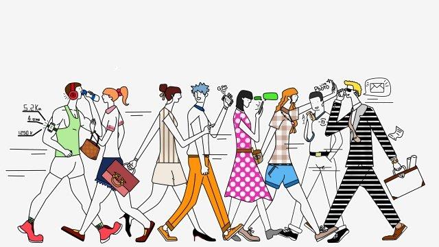 avanço de tendência de moda moderna Material de ilustração