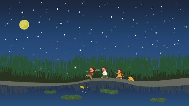 moon round moon star starry sky llustration image illustration image