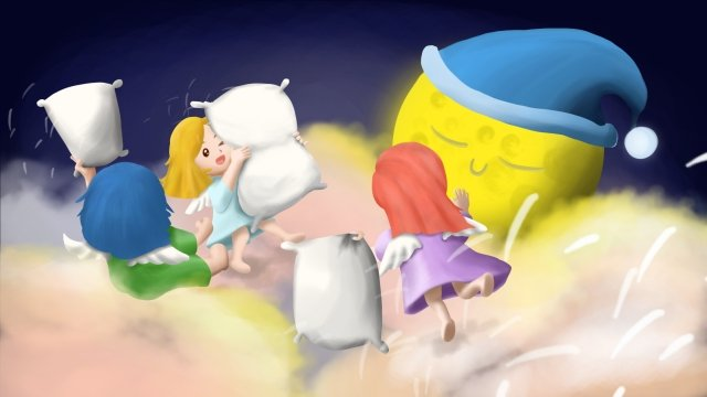 bulan tidur tidur malaikat cap imej keterlaluan imej ilustrasi