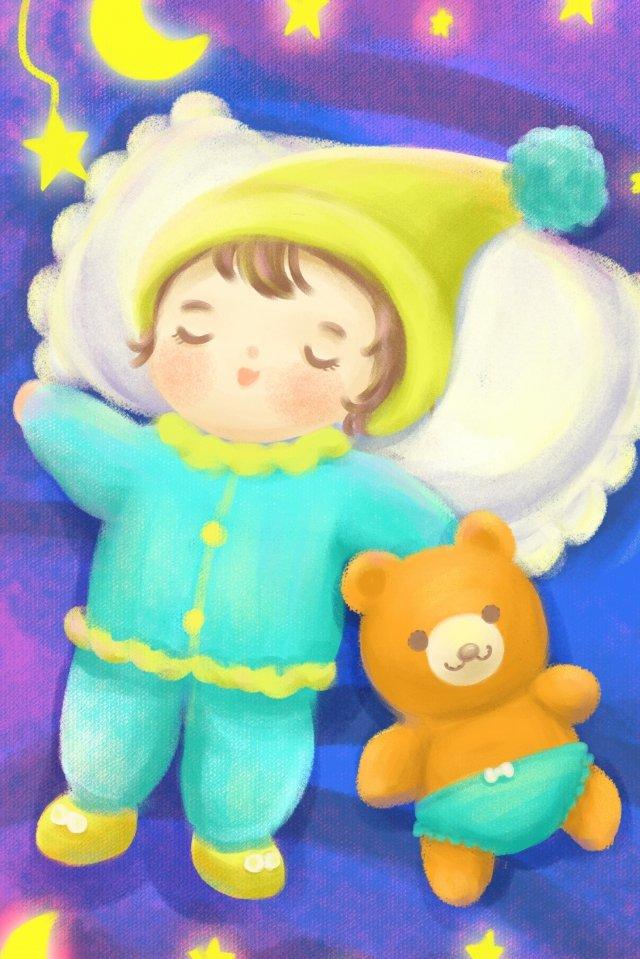母親と赤ちゃんの赤ちゃん イラストレーション画像