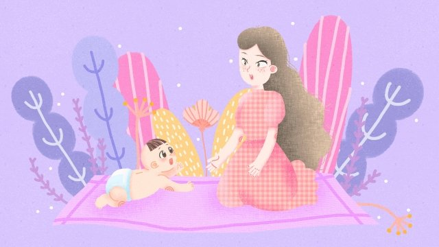 mother and baby mother mom baby llustration image illustration image