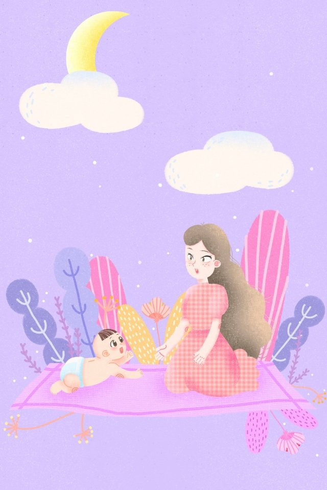 媽媽和寶寶媽媽媽媽寶貝 插畫素材
