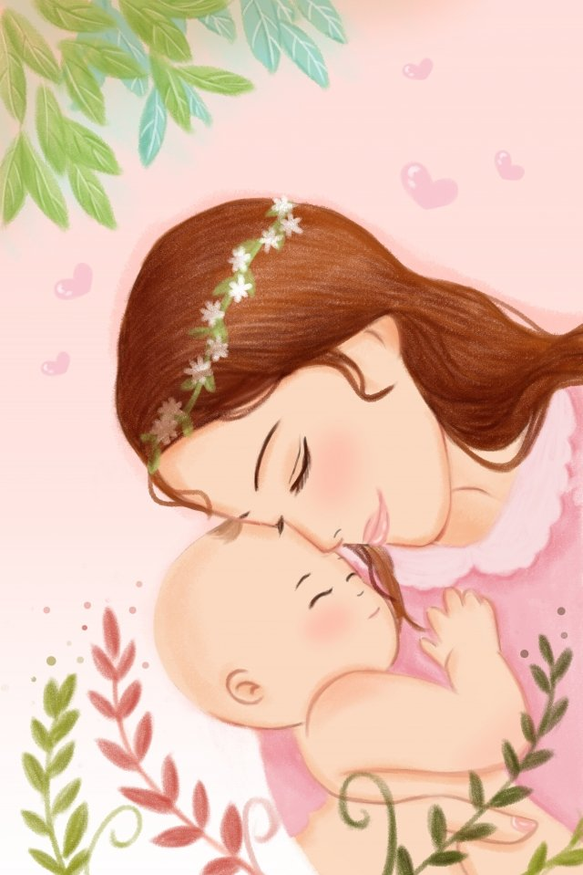 mother care care baby, Young Child, Warm, Parenting illustration image