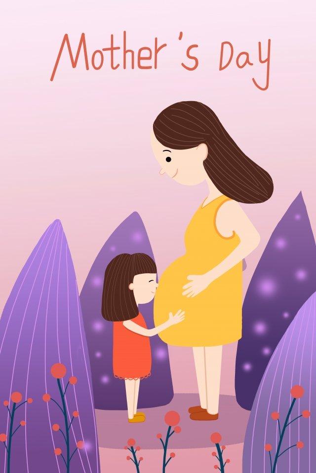 母親節美麗的插圖母親 插畫素材 插畫圖片