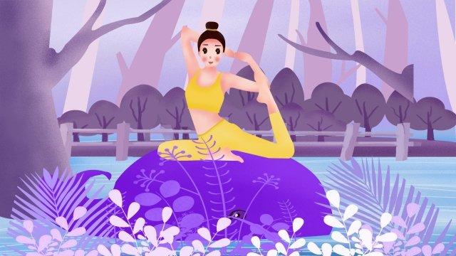 cô gái tập yoga chuyển động Hình minh họa Hình minh họa