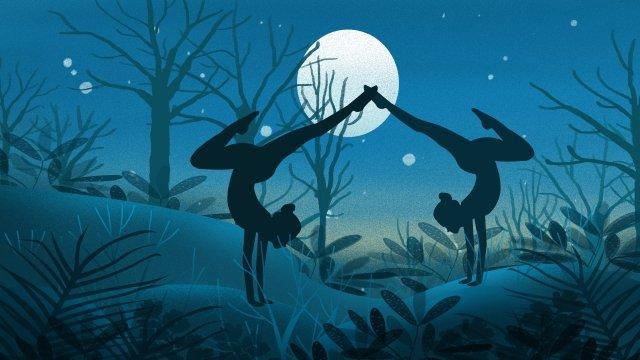 chuyển động tập thể hình yoga Hình minh họa