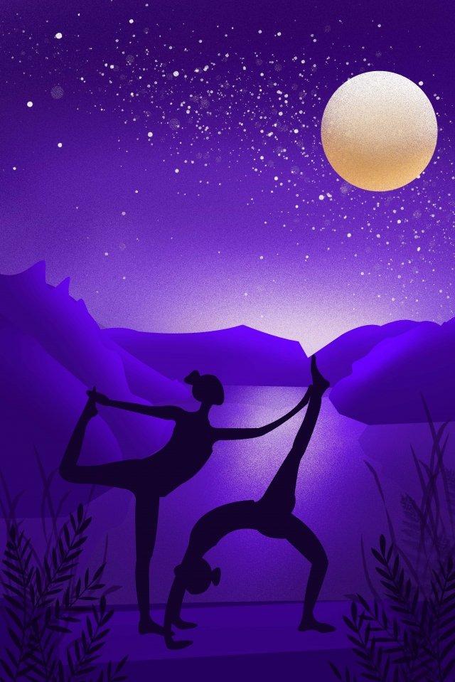 motion fitness yoga silhouette llustration image illustration image
